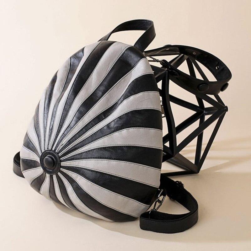 MLITDIS chapeau forme femmes voyage sac à dos pour adolescent motif zèbre sacs à bandoulière personnalité noir blanc rayé sac à dos nouveauté - 4