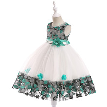 New Kids Pageant Evening Gowns 2019 Lace Ball Gown Flower Girl Dresses For Weddings First Communion Dresses For Girls 2017 two pieces lace flower girl dresses for weddings vintage pageant gowns communion
