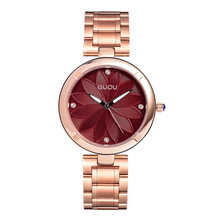 купить Luxury Rose Gold Women Watch Lady Fashion Crystal Bracelet Quartz Watch Female  Flower Dial Stainless Steel Dress Watches дешево