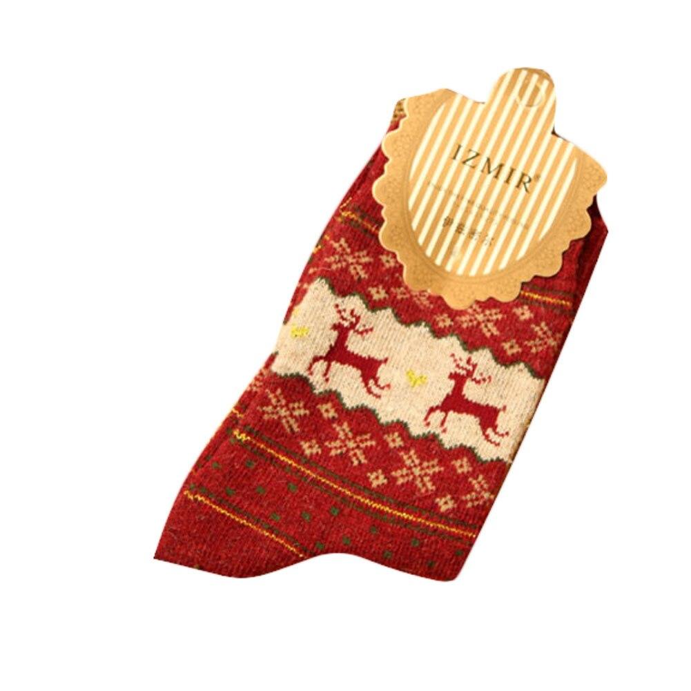 nueva llegada de la manera golden fawn navidad calcetines de lana de conejo otoo invierno para