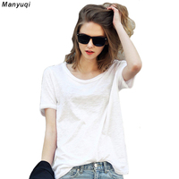 Summer Europe Style Womens T Shirt Fashion White Cotton Short Sleeve Shirts Ladies Casual Loose T