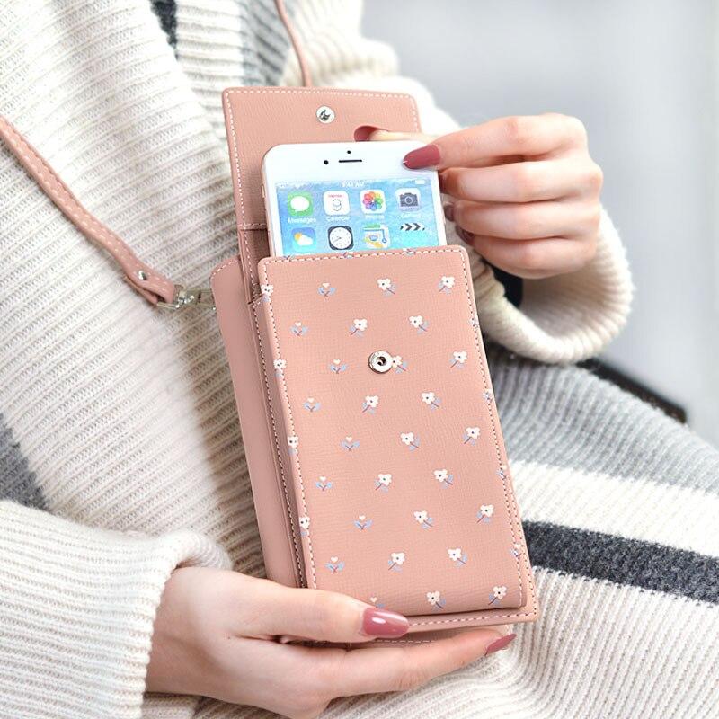 New 2019 Brand Women Casual Wallet For iphone 7 6 X Messenger Shoulder Straps Bag Big Card Holders Wallet Handbag Purse Clutch