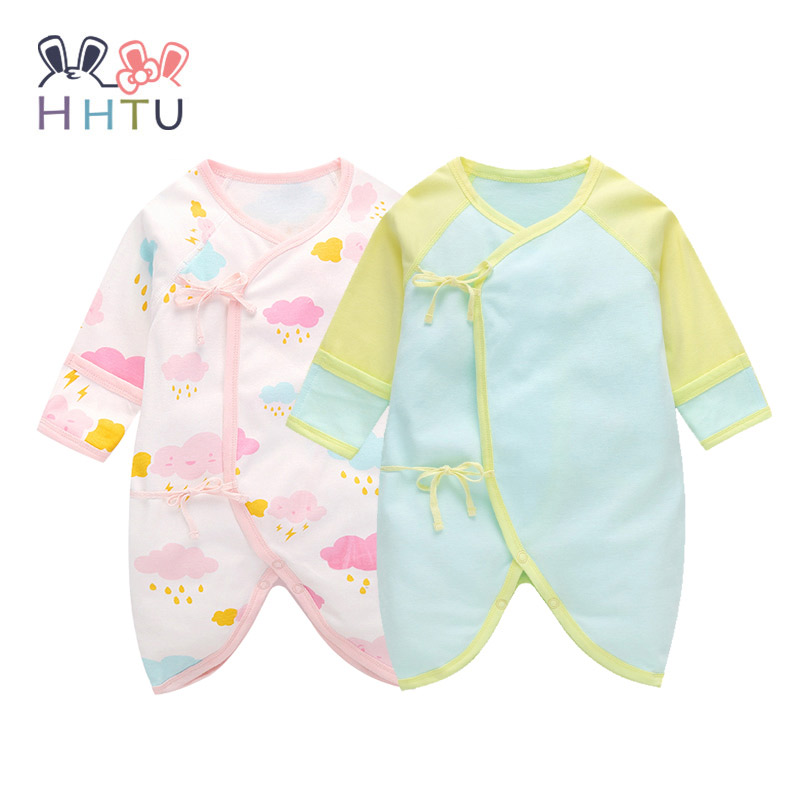 HHTU 2017 Baby Rompers Long Sleeve Cotton Cute Infant Product Boy Girl Romper Jumpsuit for Newborns Baby Clothes Summer Spring warm thicken baby rompers long sleeve organic cotton autumn