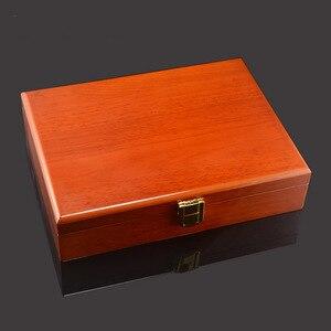 Image 3 - Savoyshi Luxe Manchetknopen Geschenkdoos Hoge Kwaliteit Geschilderd Houten Doos Authentieke Maat 240*180*55Mm Capaciteit Sieraden opbergdoos Set