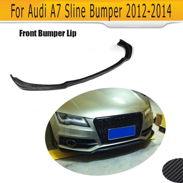 carbon fiber car front lip auto front spoiler for Audi A7 sline bumper 2012 2013 2014 JC styling