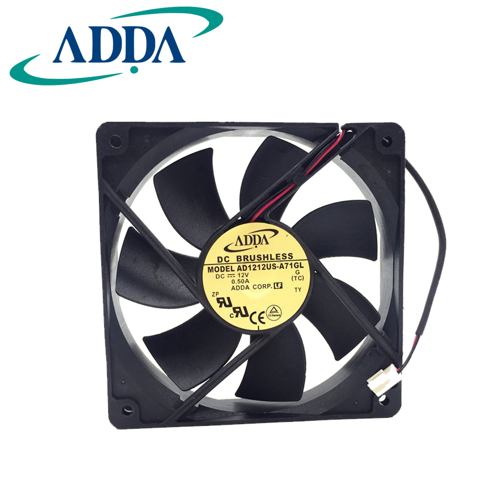 12v 0.50a 12cm Ad1212us-a71gl 12025 Air Volume Chassis Fan Cooling Fan Diversified Latest Designs