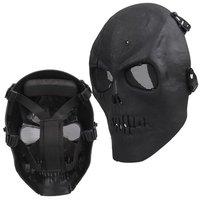 Envío Libre Airsoft Máscara de Calavera Máscara Protectora Completa Militar-Negro