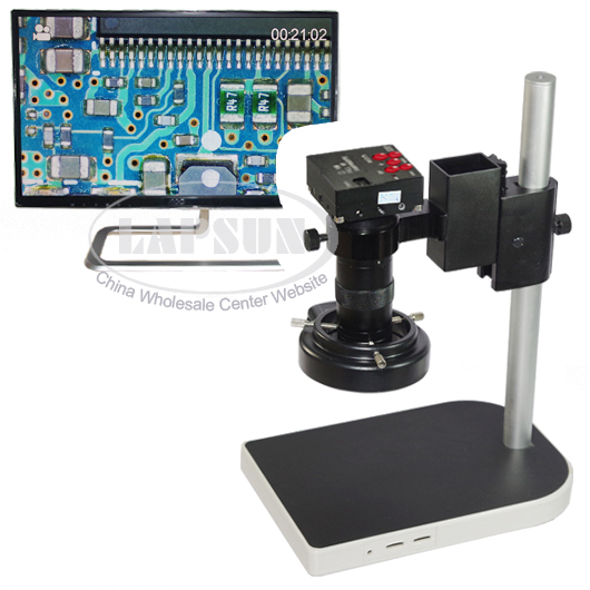 16MP 1080P Full HDMI HD 60F/S High Speed Video Indusry Lab Microscope Camera + 100X C Mount Lens +Big Stand +144 LED Ring Light-in Microscopes from Tools    1