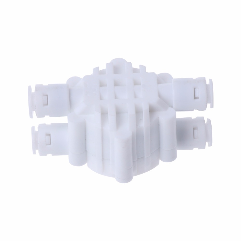 4 Way 1/4 Port Auto Shut Off Valve For RO Reverse Osmosis Water Filter System Accessories high quality 2pcs 4 way 1 4 port auto shut off valve for ro reverse osmosis water filter system