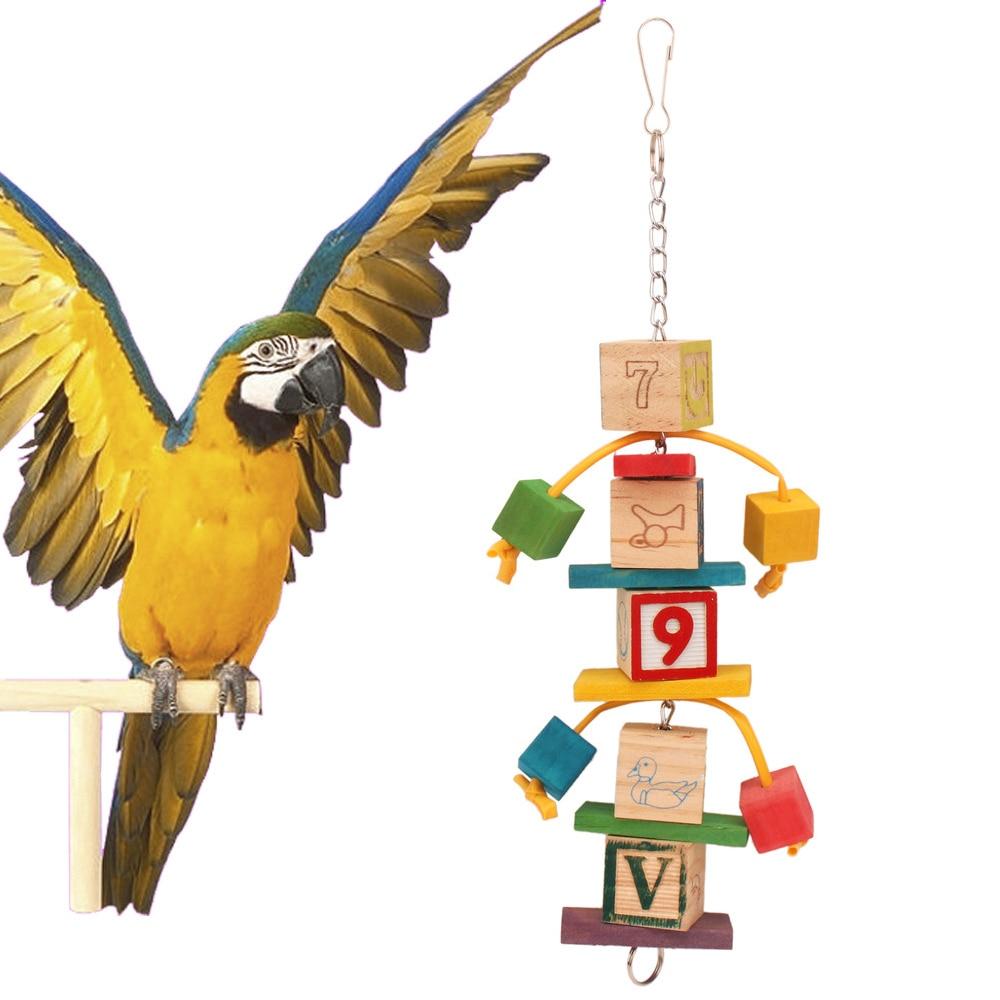 Perroquets jouets et accessoires oiseau jouet pour Conure Stand perruche fournitures Cage décoration blocs de construction jouet oiseaux