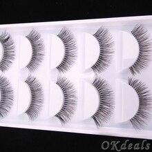 5 Pairs Natural Black Long Sparse Cross False Eyelashes Fake Eye Lashes Extensions Makeup Tools