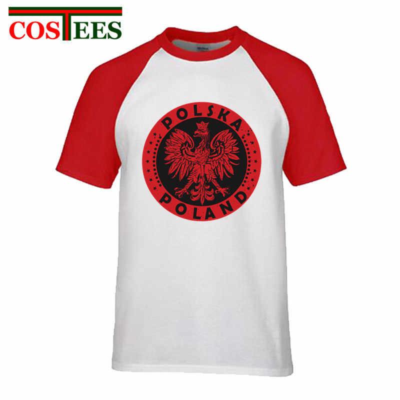 Camiseta Vintage Polska Polonia con Logo polaco para hombre, camiseta con emblema polaco, camiseta harajuku, Tops con cuello redondo, camiseta retro, homme