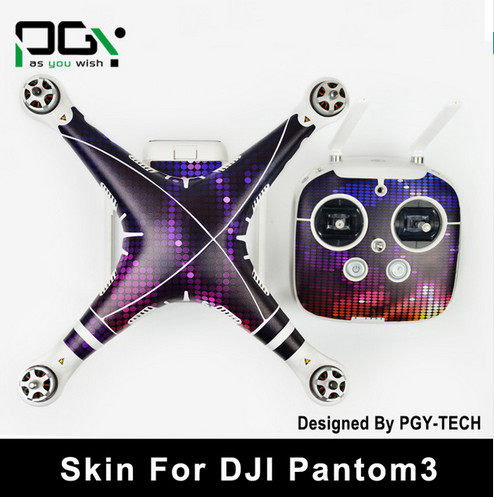 PGY PVC Skin For DJI Phantom 3 Waterproof 3M Sticker professional Drone parts D6