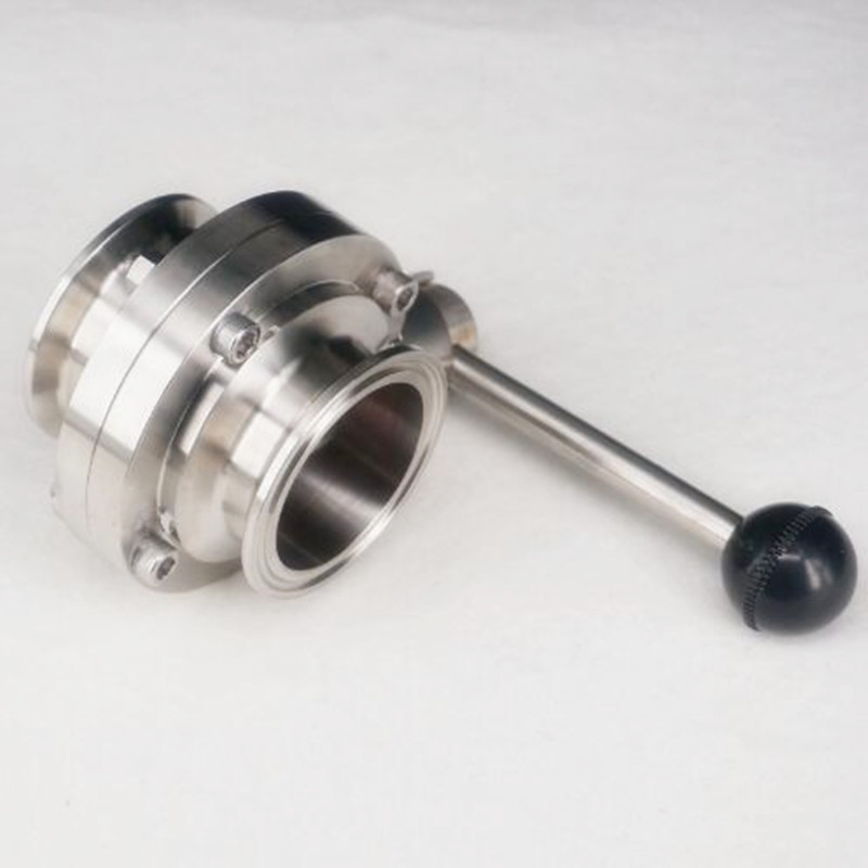 """2"""" 51mm SS304 Stainless Steel Sanitary 2"""" Tri Clamp Butterfly Valve Homebrew Beer Dairy Product"""