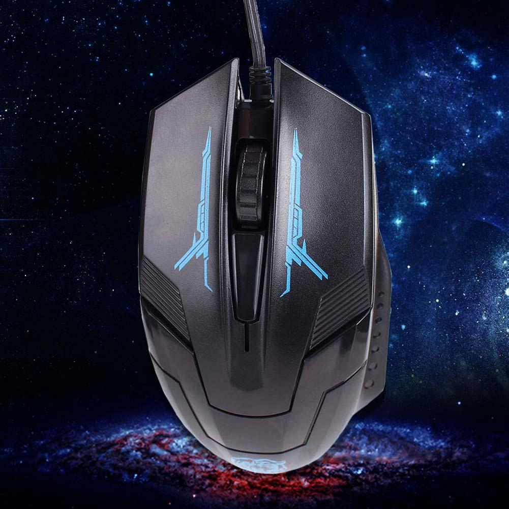 Black USB 2.0 Wired 3D Optical LED Gaming Game Mouse Mice 1600 DPI For Laptop wired keyb ...