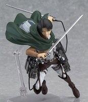 Anime Atak na Titan Levi Ackerman Figma 213 PVC Figurka Kolekcja Klocki Lalki 15 cm A185