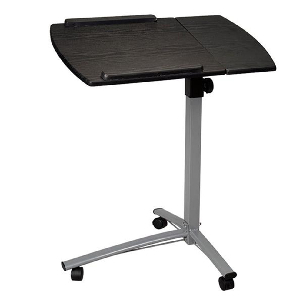 Home Use Multifunctional Lifting Computer Desk Black with roller computer desk for laptop