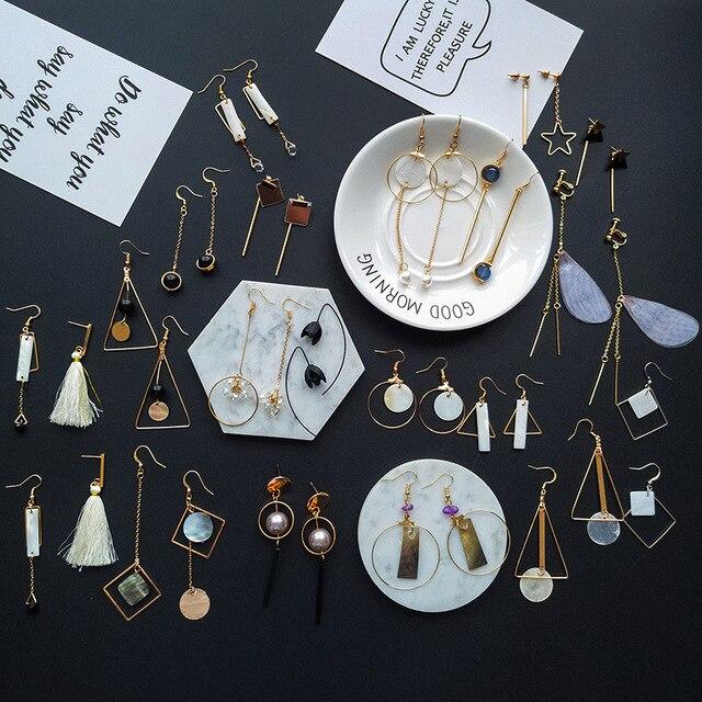 YOBEST fashion 24 Pairs earrings set for women and girls heart Geometric pearl tassel Pentagram earring jewelry party gift