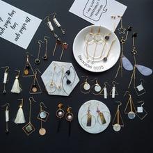 YOBEST moda 24 pares juego de pendientes para mujeres y niñas corazón geométrico perla borla pendiente de pentagrama joyería fiesta regalo