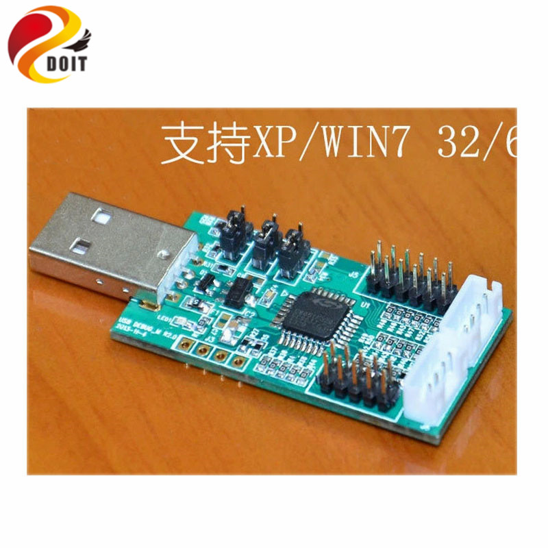 Official DOIT USB to UART I2C SPI with 4 ADC 4-way PWM 8 Digital IO and nRF2401 Test Software USB Line Cable DIY Electronic Toy it e122 usb communication cable and software cd for itech it8511 dc electronic load
