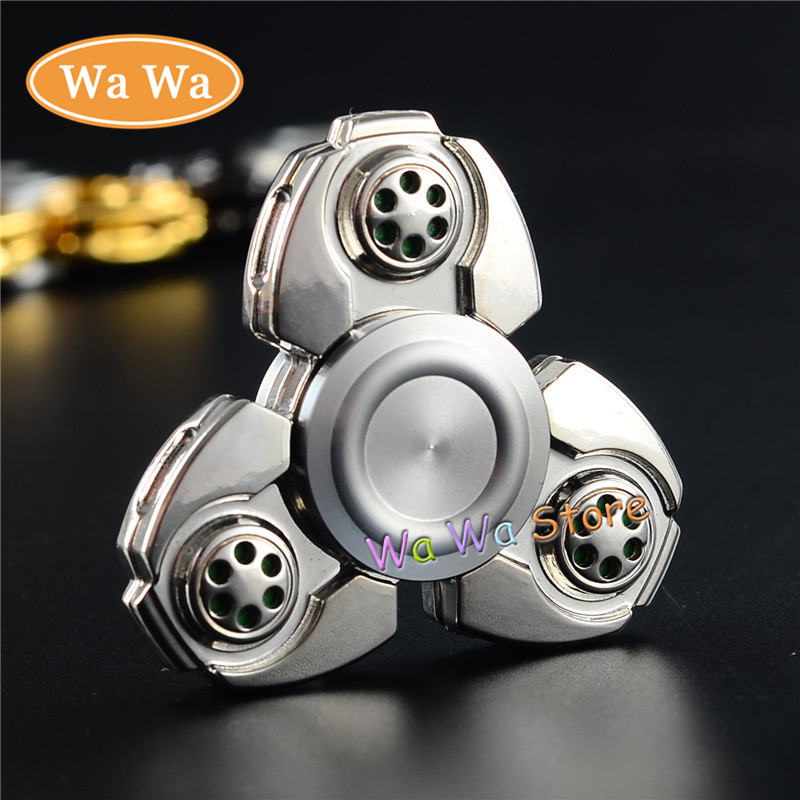 2017 Tri Spinner Fidget Toy Stainless steel EDC Fidget Hand Spinner For Autism and ADHD Rotation