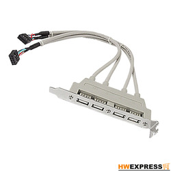 HWEXPRESS Hot wielkiej brytanii płyta główna 4 Port USB 2.0 do 9 Pin Header uchwyt kabel przedłużający