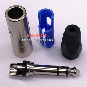 Image 2 - 10 pçs/lote para neutrik np3x 24 k chapeado ródio 3 pólo 6.35mm 6.5mm estéreo jack plug para diy cabo