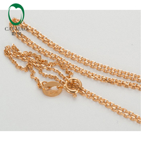 LADIES SOLID 18k 750 Rose GOLD LINK CHAIN NECKLACE 18 About 45cm
