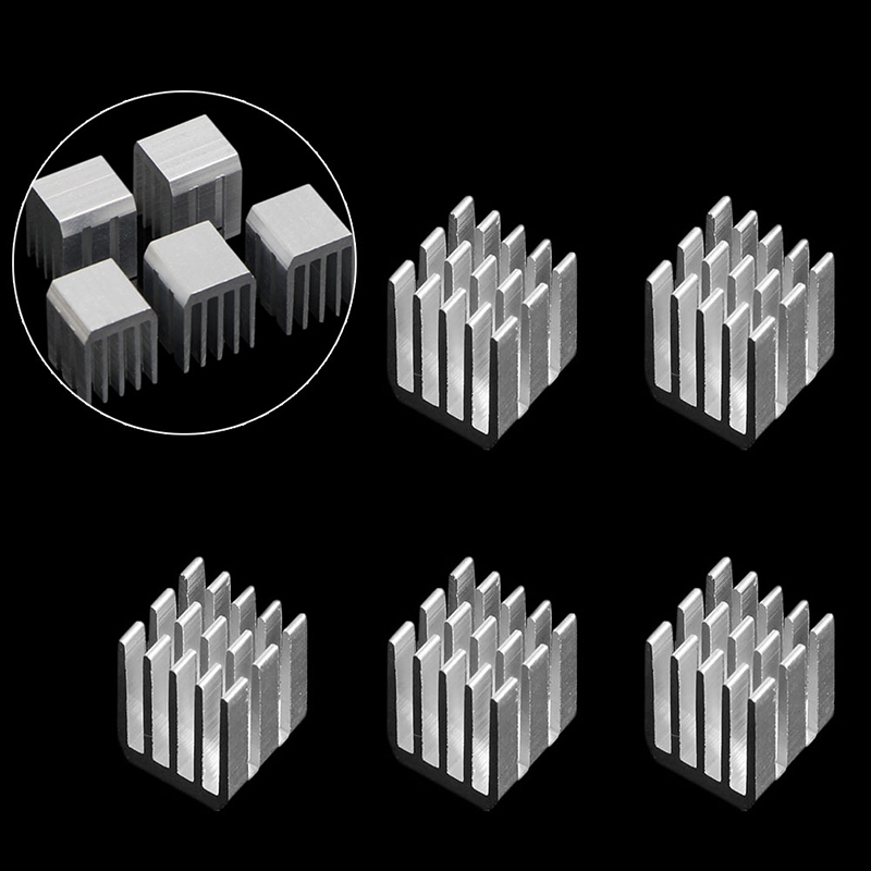 5 x Aluminum Cooling PCS 9x9x12MM Chipset Heat Sink RAM Radiator Heatsink Cooler New Drop shipping-PC Friend 50pcs 8 8x8 8x5mm aluminum heatsink radiator cooling cooler for electronic chip ic ram led with thermal conductive tape