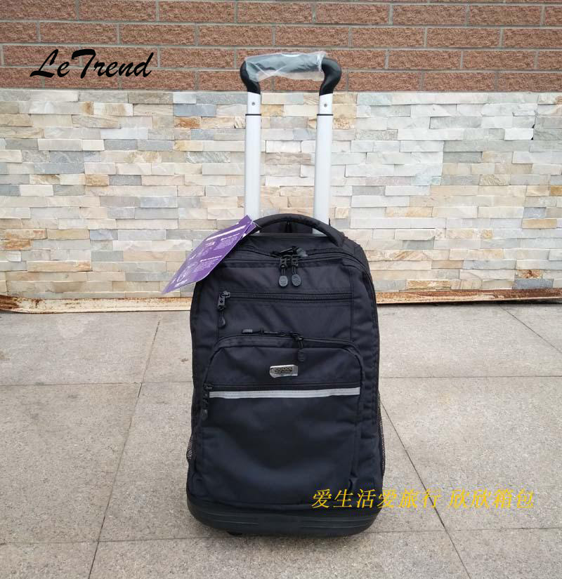 LeTrend Black Students Oxford Travel bag Rolling Luggage Caster Trolley Men Business Backpack 20 inch Cabin Suitcase Wheels universal uheels trolley travel suitcase double shoulder backpack bag with rolling multilayer school bag commercial luggage