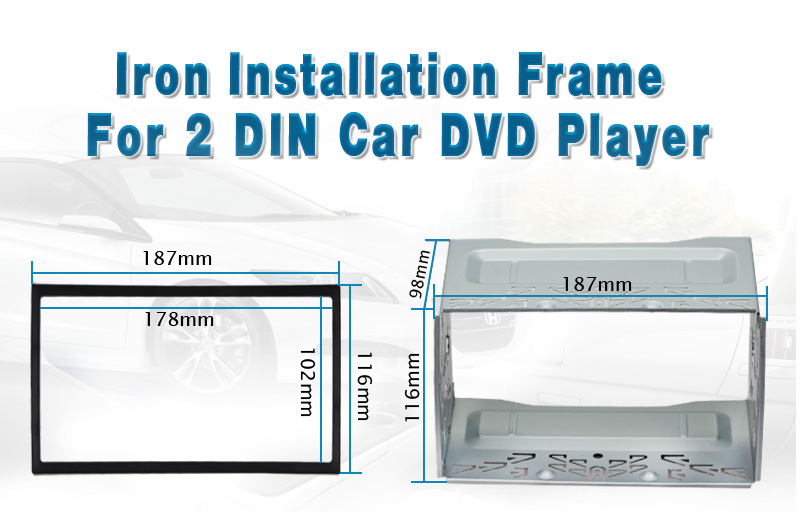 Pumpkin Installation Universal Fascia Frame For 2 Din Android Car ...