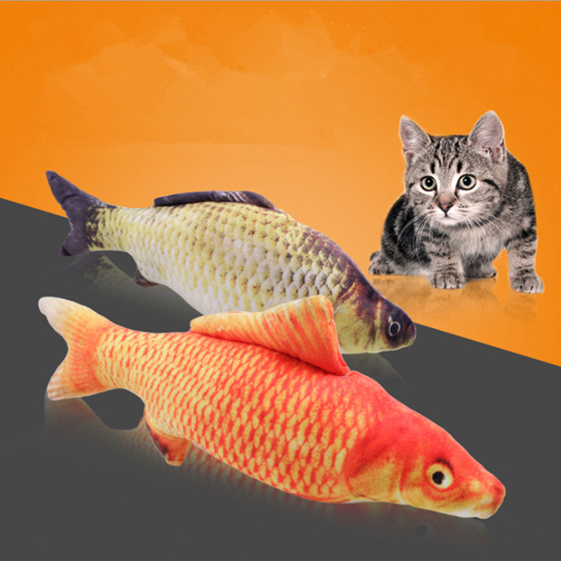 Funny Cat Toy Eco-friendly Cat Interactive Pet Toy With Catnip Artificial Catfish GP171111-71