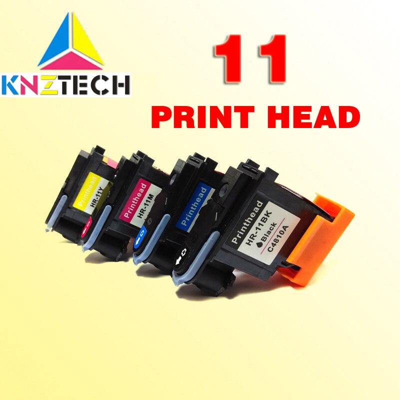 4 piezas excelente cabeza de impresión compatible para hp 11 reemplazo para hp 11 cabezal de impresión Designjet 70 100 110 500 510 500 PS impresora