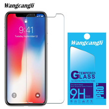 wangcangli tempered glass for iphone x screen protector 2.5D protection film 9H  With Retail Package
