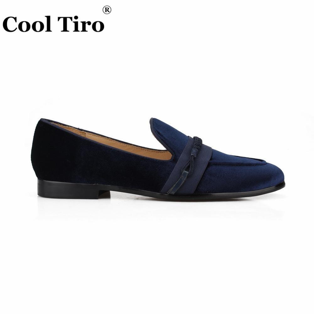 Cool Tiro mocassins hommes tressage mocassins hommes velours robe chaussures pantoufles fumer sans lacet appartements en cuir véritable chaussures décontractées-in Chaussures d'affaires from Chaussures    2