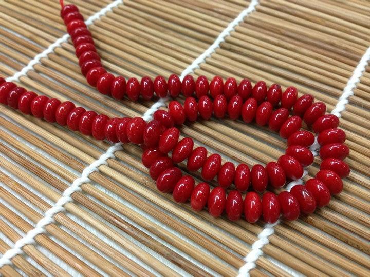 5x8 мм красный коралловый бочонок бусины 10 нитей в партии