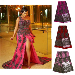 Image 1 - Tulle Embroidered Net Lace African French Laces Fabrics High Quality Nigerian French Net Lace With Stones Swiss Lace Fabric S697