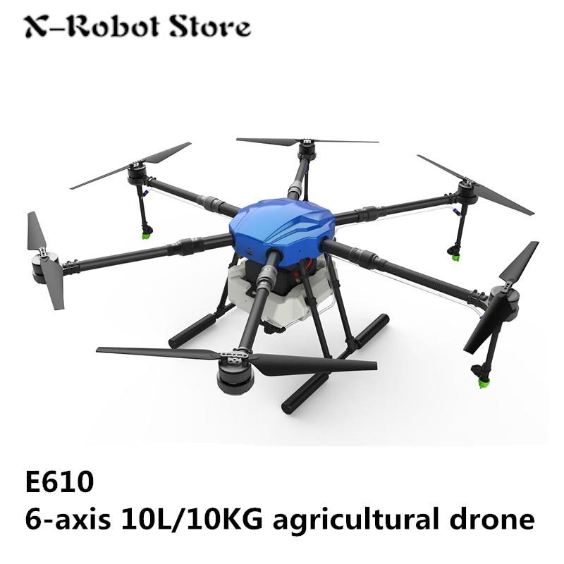 EFT E610 10L 10KG waterproof Agricultural spraying drone flight platform 1400mm wheelbase 10KG sprayer system Folding