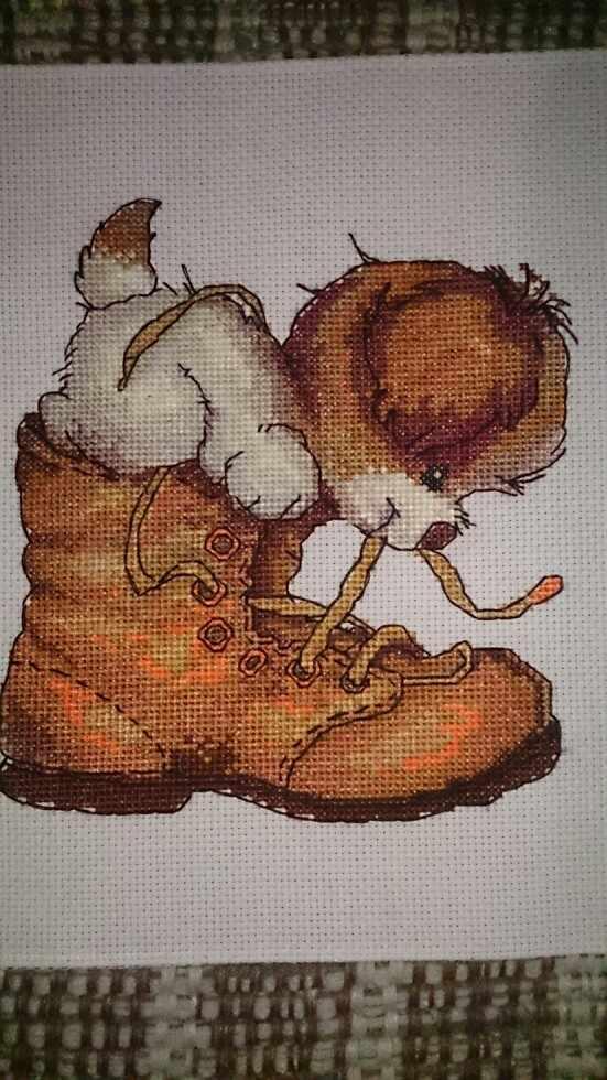 Chó Và Giày Chéo Nữ Thời Trang Bộ Động Vật Được Tính 18ct 14ct 11CT In Tem Cotton Thêu Tự Làm Thủ Công Bộ Kim Chỉ Thủ Công Plus