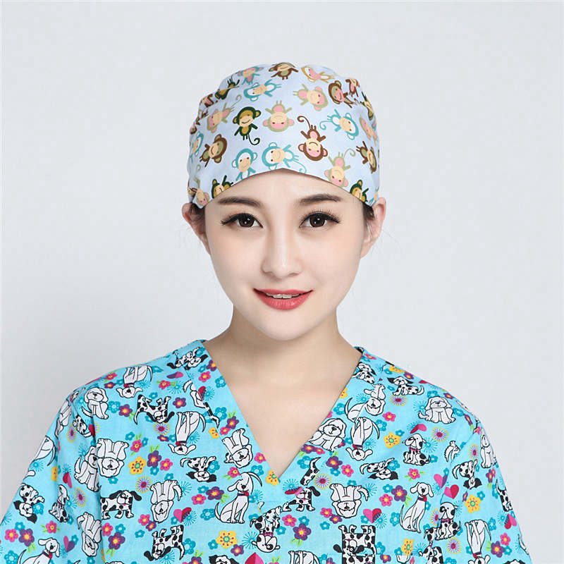 2018 New Scrub Cap Hat Nurse Doctor Surgical Unisex Hospital Adjustable Medical Caps Scrub Lab Clinic Dental Operation Hat Caps