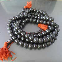 BRO555 Tibetan 108 Beads Black Yak Bone Rosary 12mm Wholesale Tibet Bone Prayer Beads Mala Necklace