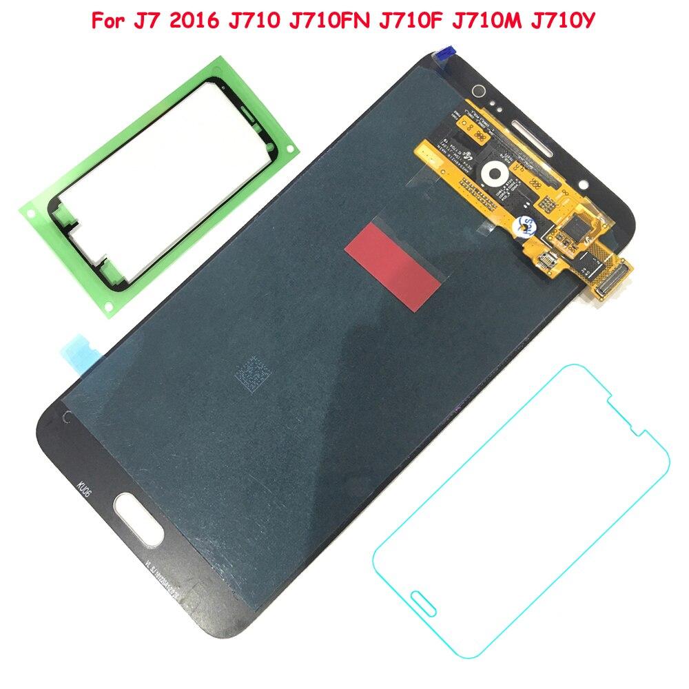 FIX2SAILING 100% Testé Travail AMOLED LCD Affichage Tactile Assemblée D'écran Pour Samsung Galaxy J7 2016 J710FN J710F J710M J710Y