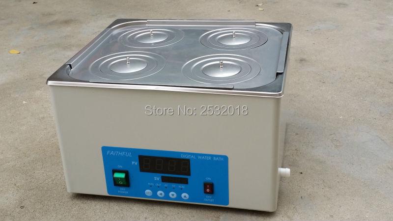 Les bains d'eau thermostatiques de laboratoire 4 trous peuvent étirer le revêtement, livraison gratuite!
