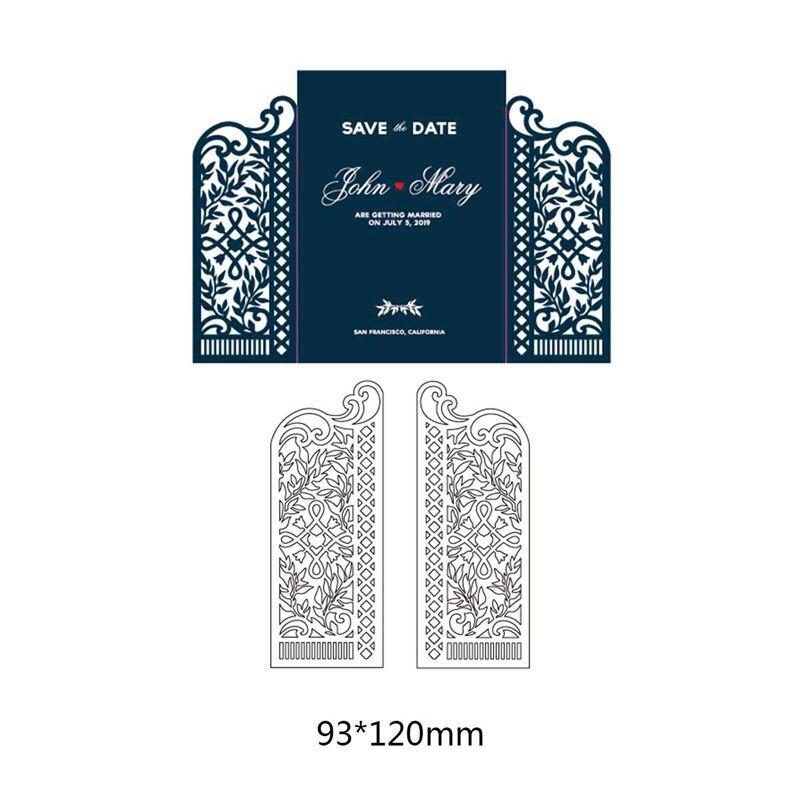 Dubbele Symmetrie Deur Metalen Stansmessen Voor Fotoalbum Diy Ambachten Scrapbook Creatieve Papier Ambachtelijke Embossing Stencil Sterft 93*120