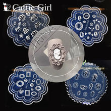1pc Frame 3D Acrylic Mold Palace Nail Art Decorations Royal Court DIY Design Silicone Heart Nail Art Templates Nails Portrait(China)