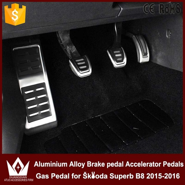 Night Lord Car Pedals Aluminium alloy Brake pedal Accelerator Pedals Gas Pedal for Skoda Superb B8 2015-2016