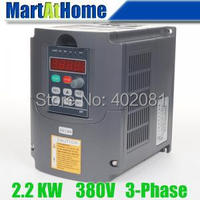 Free Shipping New 2 2kw 3HP 380V 6A Usual VFD Inverter Variable Frequency Drive Inverter For