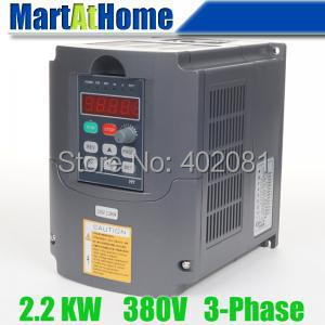 цена на Free shipping New 2.2kw 3HP 380V 6A Usual VFD Inverter Variable Frequency Drive Inverter for Spindle Motor #SM659 @CF