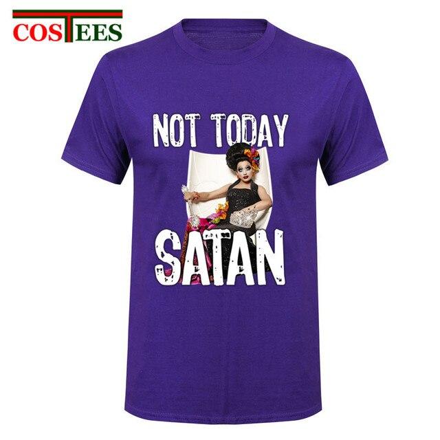 5b0310c912 Elegant fashion Men Shirt Not Today Satan tshirts Famous Sayings Design T  Shirts Men Screw Neck