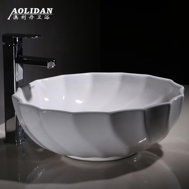 2017 Limited Sink Curtain Rideau De Douche Taiwan Basin Wash Above The Circular Bowl Now Art Ceramic Lavatory Toilet Bathroom